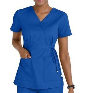 💙Koi Katelyn mock wrap scrub top in royal blue